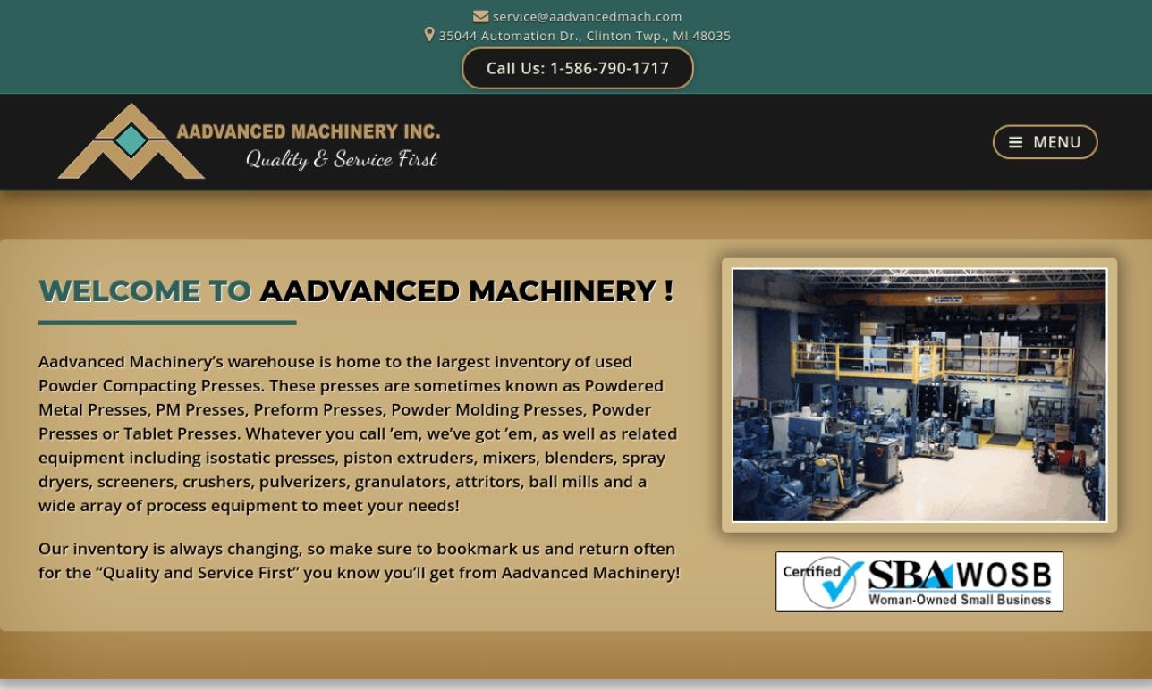 Aadvanced Machinery, Inc.