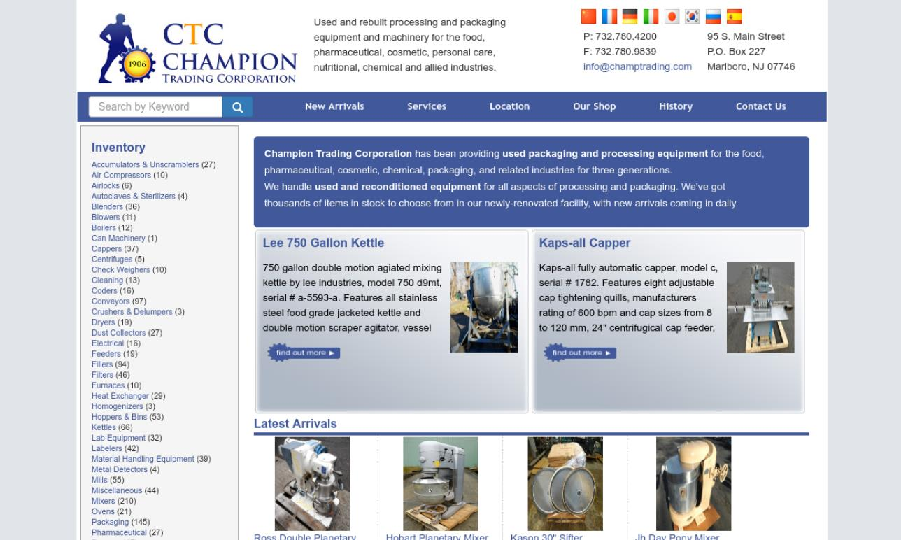Champion Trading Corporation/ CTC | Industrial Mixers