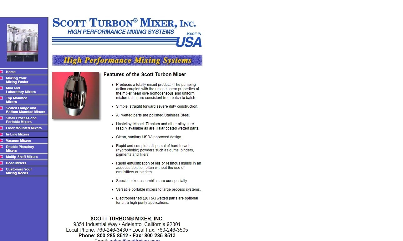 Scott Turbon® Mixer, Inc.